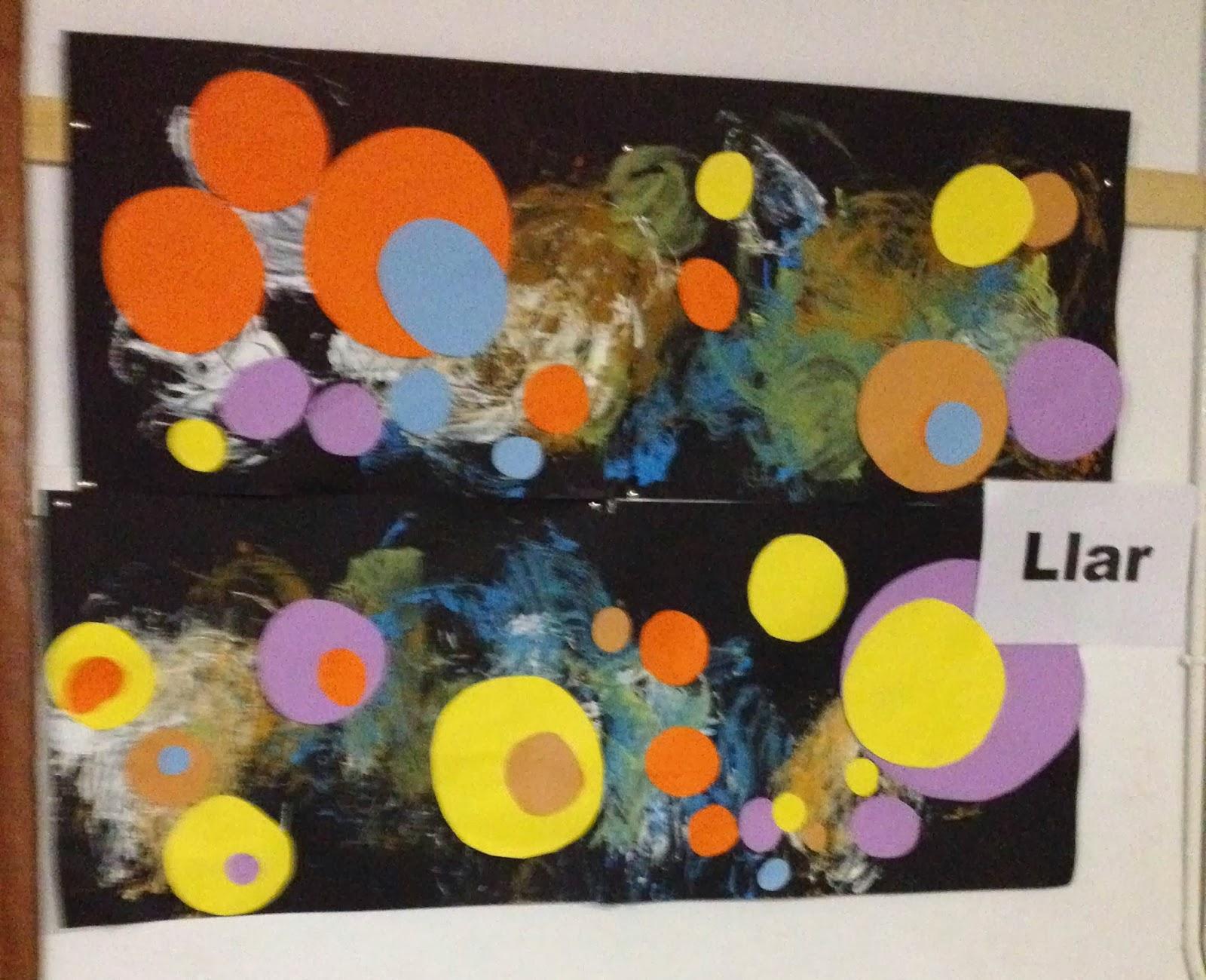 """Interpretació de l'obra """"Alguns cercles"""" de Kandinsky pels Els Peixos"""