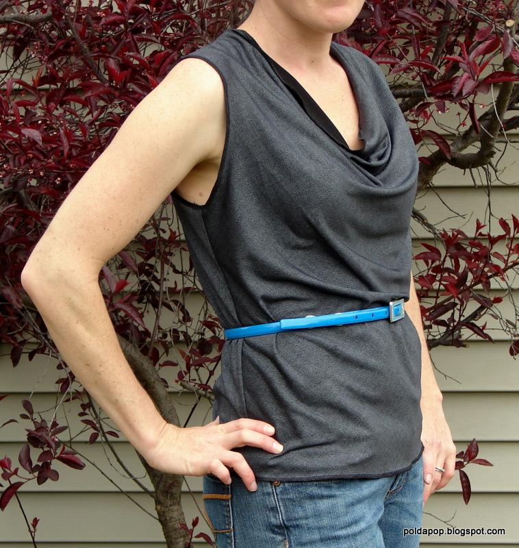 Free Sewing Tutorial: Draft a deep cowl neck top | PoldaPop Designs