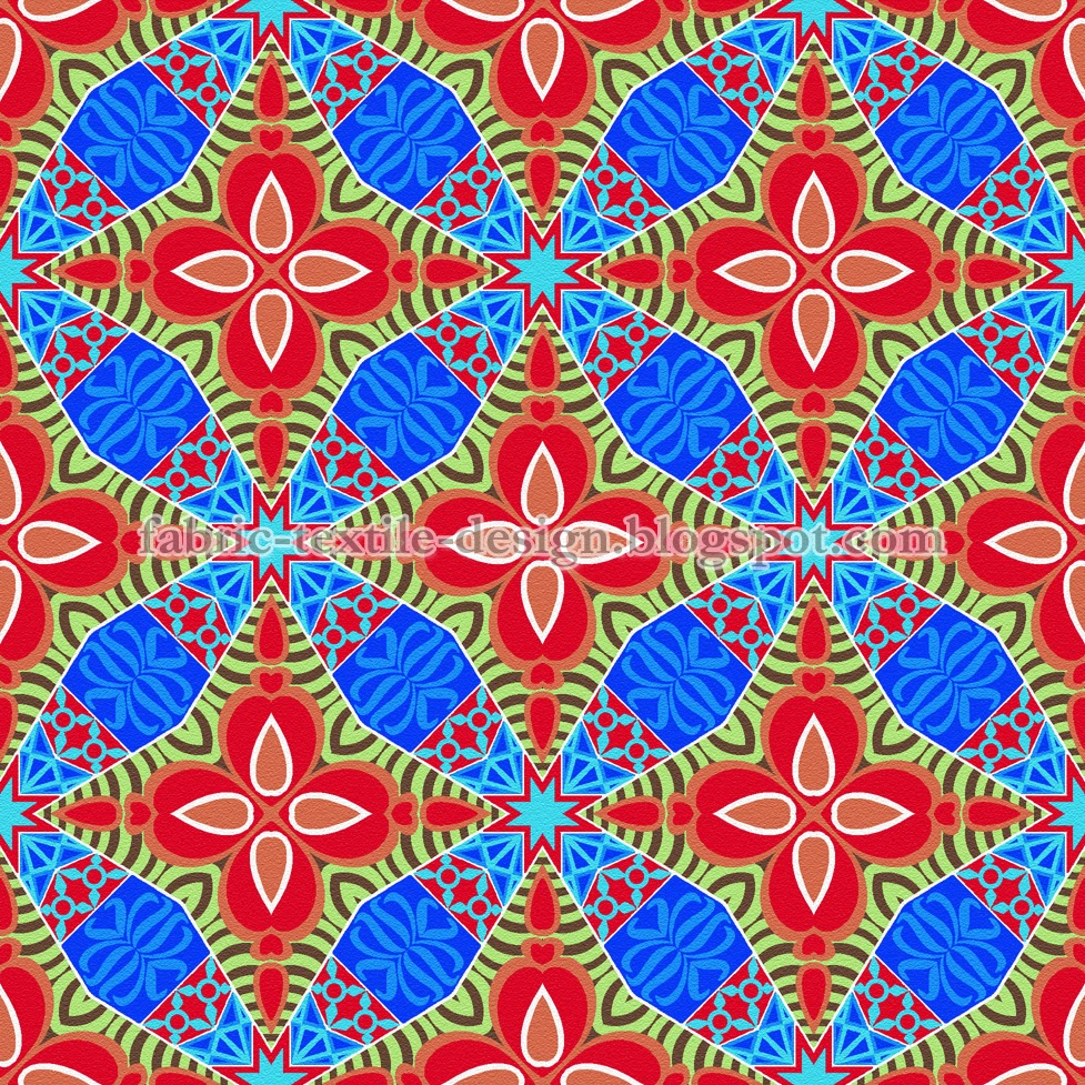 Block printing on fabric print on textile pattern design for Fabric designs