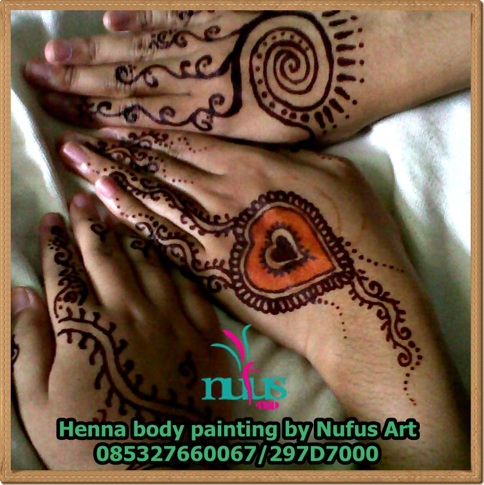 Katalog Henna Simple Nufus ArtFace Painting Henna Body Painting