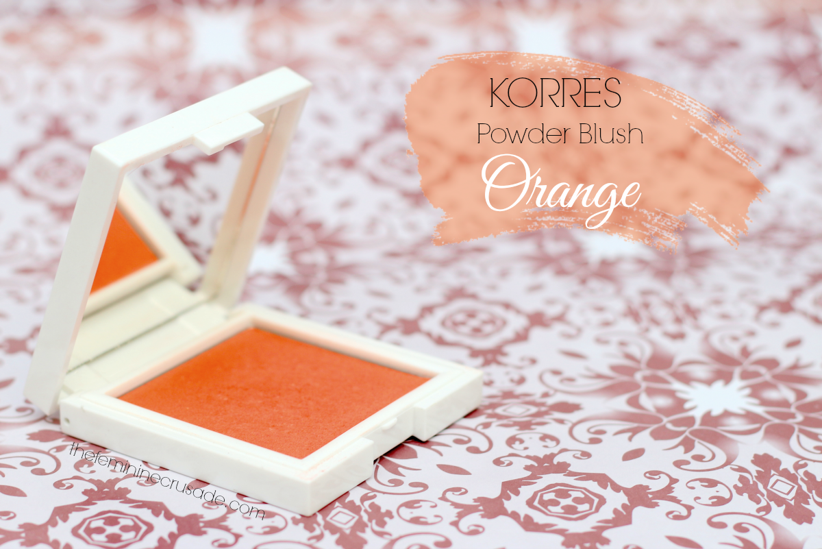 Korres Zea Mays Powder Blush in '44 Orange'