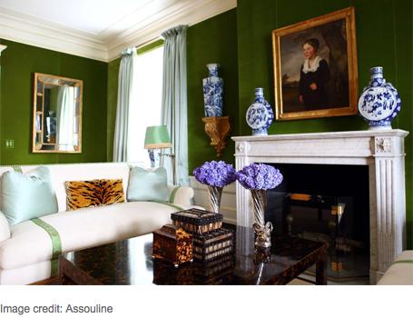 Chinoiserie Chic Green Velvet And Chinoiserie