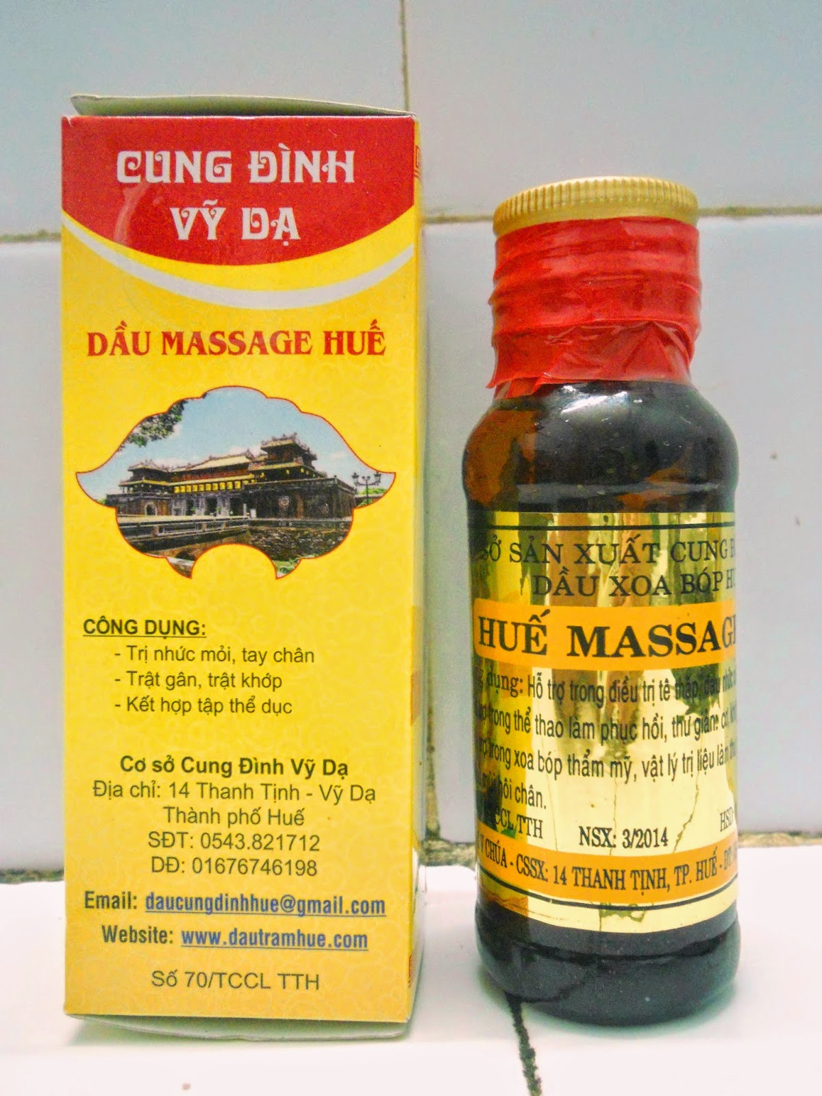 Dầu Massage Huế ( Huế Massage Oil)