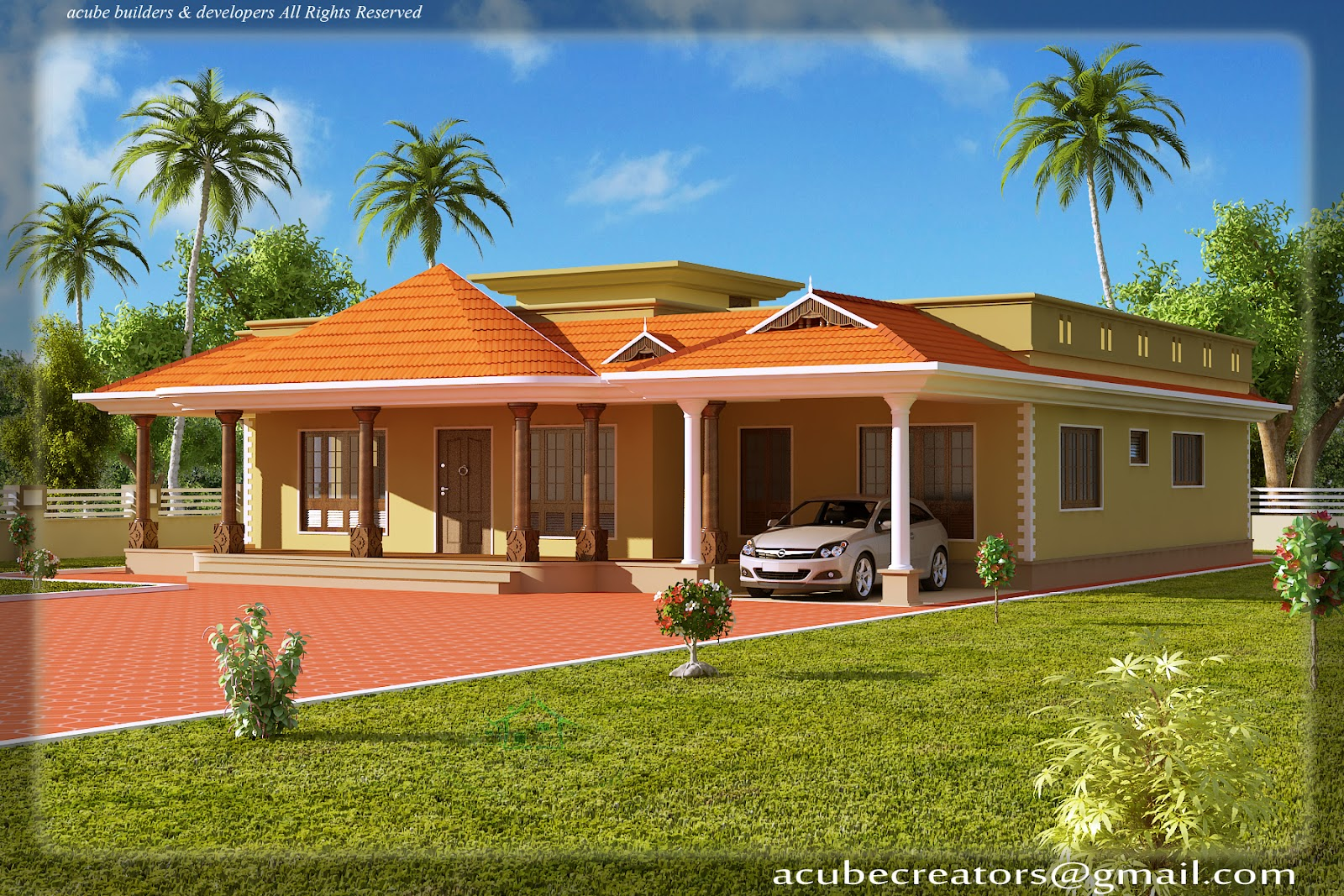 Kerala style single floor house 2500 sq ft plan 113 for 2500 sq ft house plans in kerala