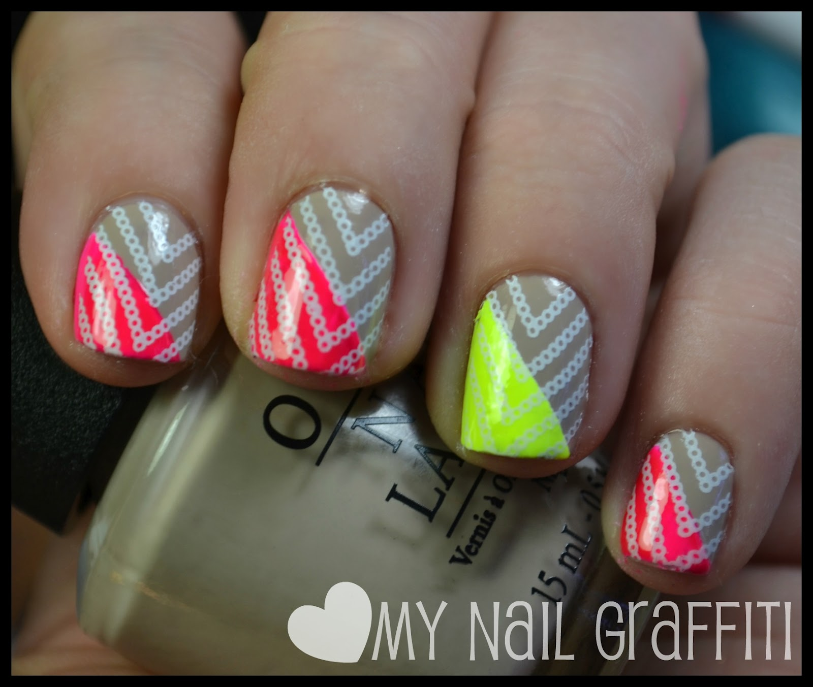 The Cool Neon colors nail designs Picture