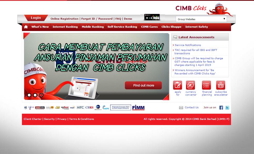 Cara Membuat Pembayaran Pinjaman Perumahan Menggunakan CIMB Clicks