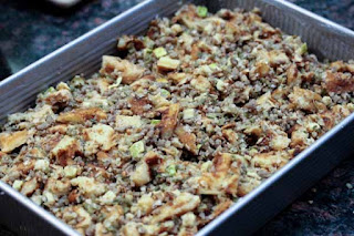 stuffing-in-pan
