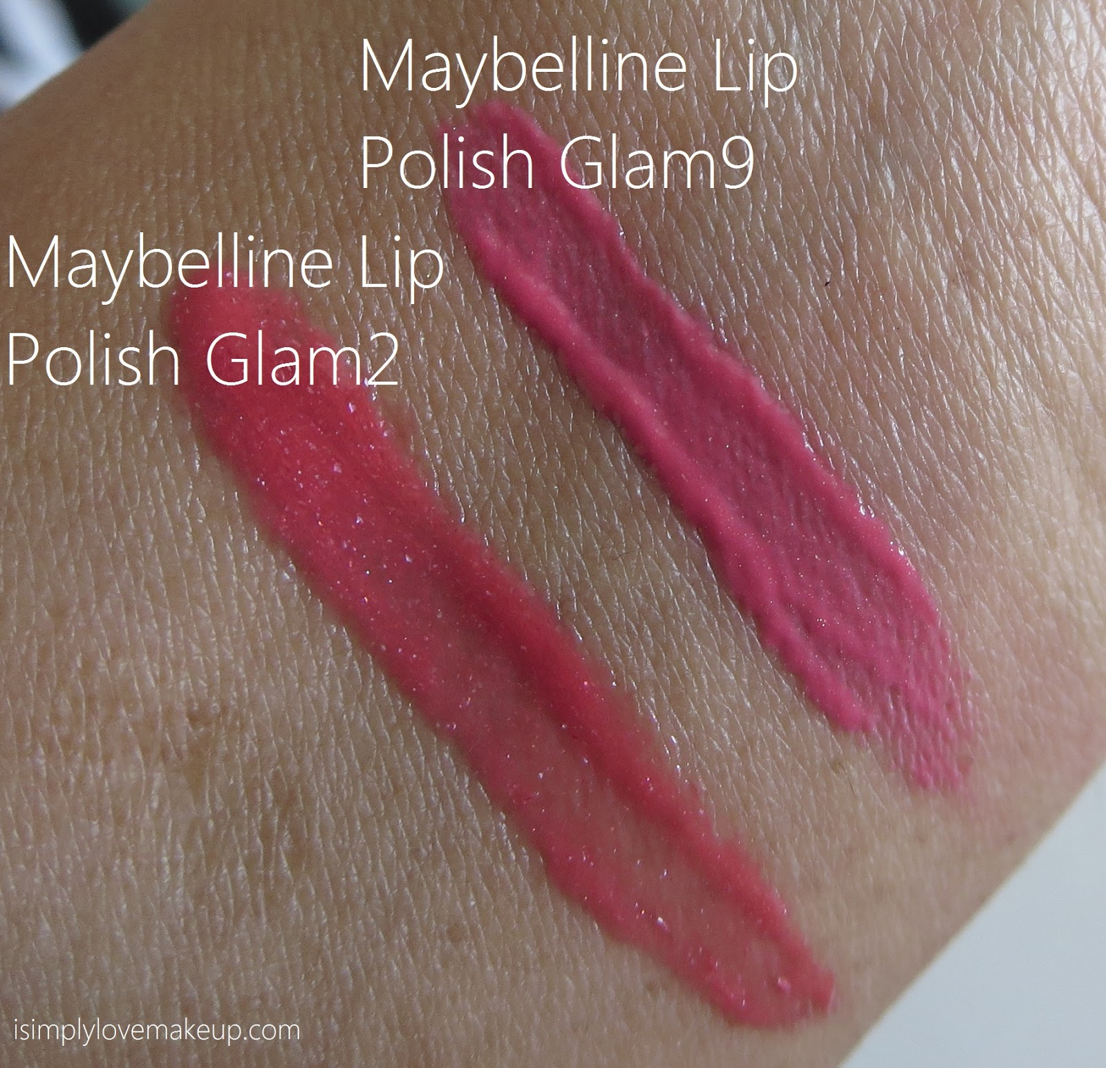 Maybelline Lip Polish Swatches