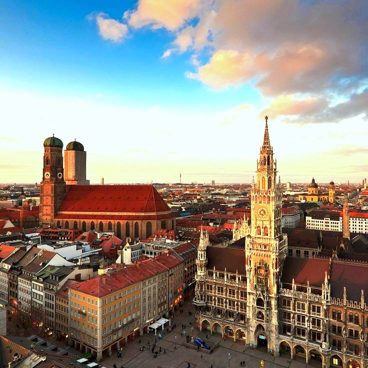 müncheni keskus vanalinn marienplatz