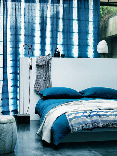 Shibori Tie Dye Ombre Bedroom Wallpaper Fabric Home D Cor