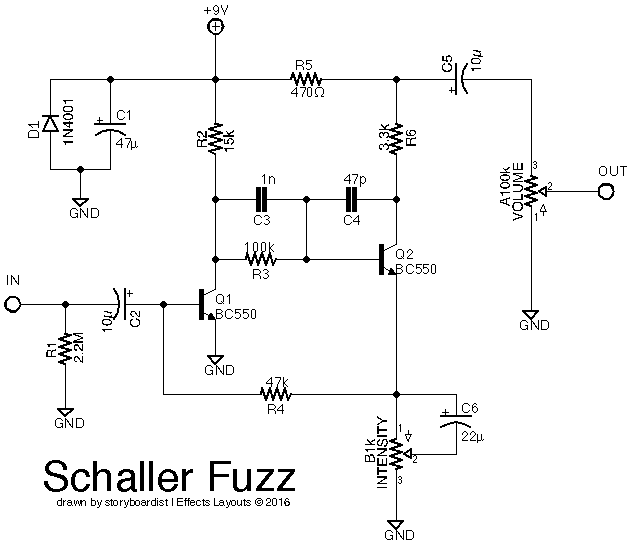 perf and pcb effects layouts  schaller fuzz