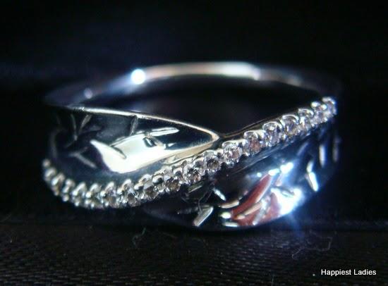 diamonds set in platinum - finger ring