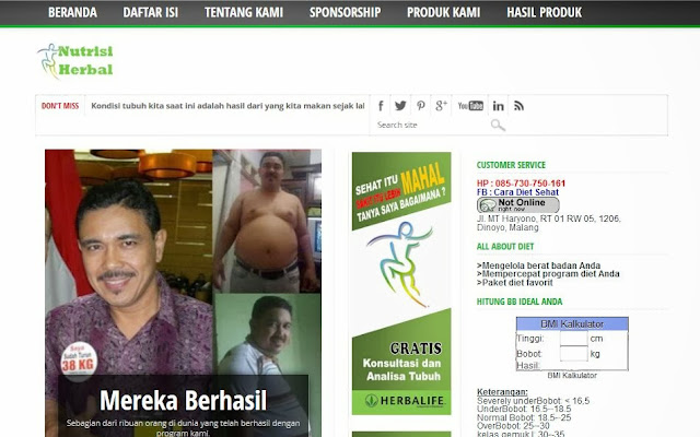 nutrisi-herbal.com jual herbalife online terpercaya