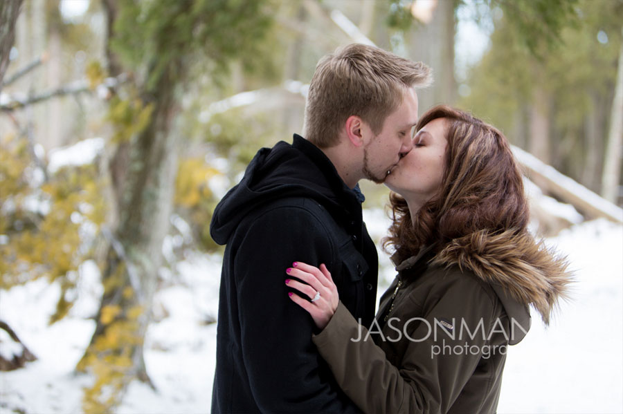 Door County Surprise Engagement at Cave Point