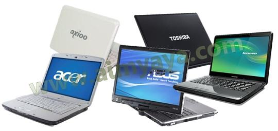 Gambar: Beberapa laptop yang umum ada di pasaran