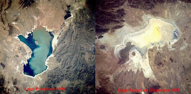 El lago Poopó, oficialmente seco.