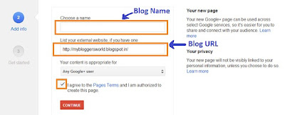 Create A Google+ Fan Page For Your Blog/Website