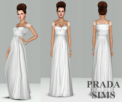 My Sims 3 Blog: New Wedding Dress by Justin_58