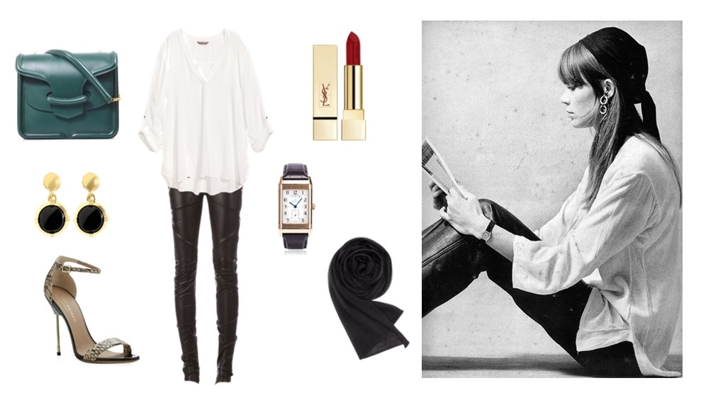 Style Hero Françoise Hardy Fashion Leather Pants