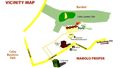 One Oasis Cebu Location Map, Condominium for sale in Cebu, Filinvest