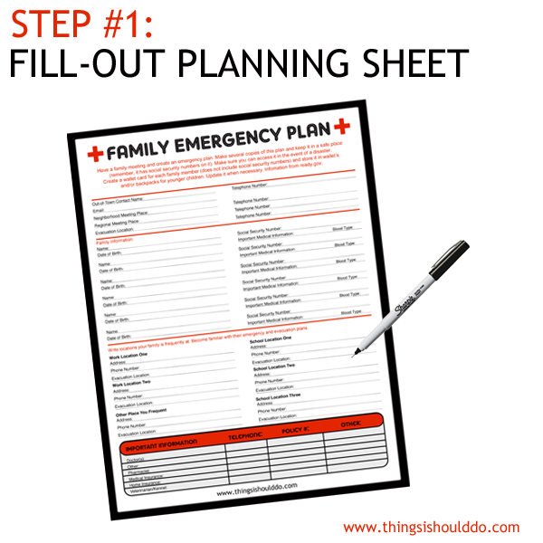 emergency planning creating a disaster plan Because your family may not be together when a disaster strikes it is important to create a plan in advance it is also essential to have a disaster supplies kit that includes basic items from your home that you may need in case of emergency.