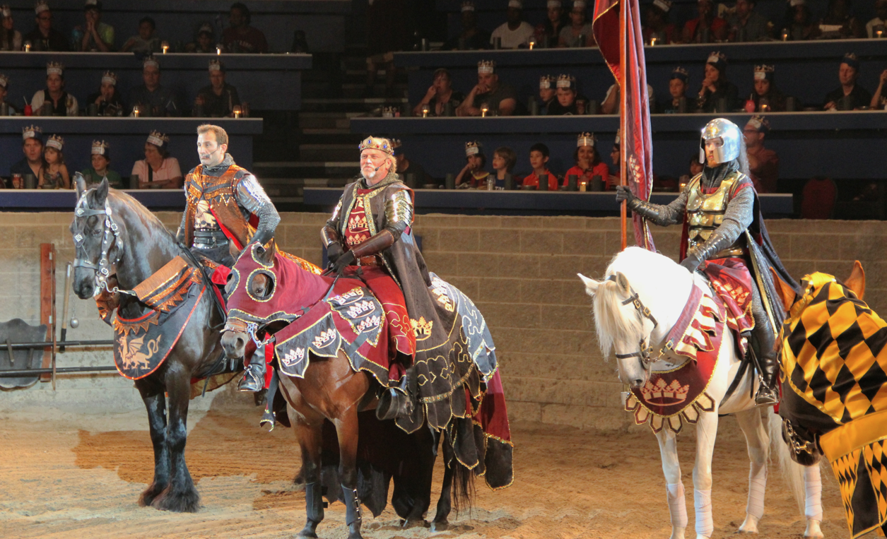 Medieval Times Dinner & Tournament in Hanover, MD. Feast on a four-course meal while watching spectacular pageantry, exquisite horsemanship and an authentic medieval jousting tournament -- an unforgettable evening for the entire family.