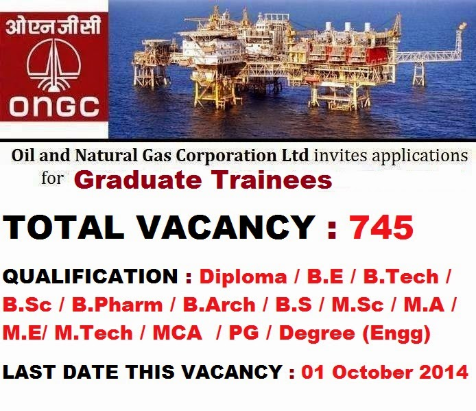 Oil and Natural Gas Corporation Limited (ONGC) Recruitment 2014 ...