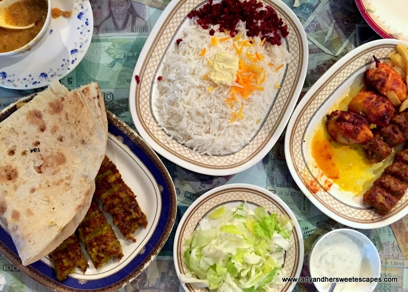 Iranian dinner at Ostadi Restaurant in Dubai