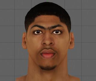NBA 2K13 Anthony Davis Cyber Face Mod