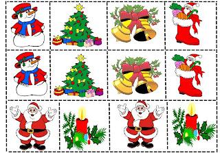 jogo da memoria simbolos do natal