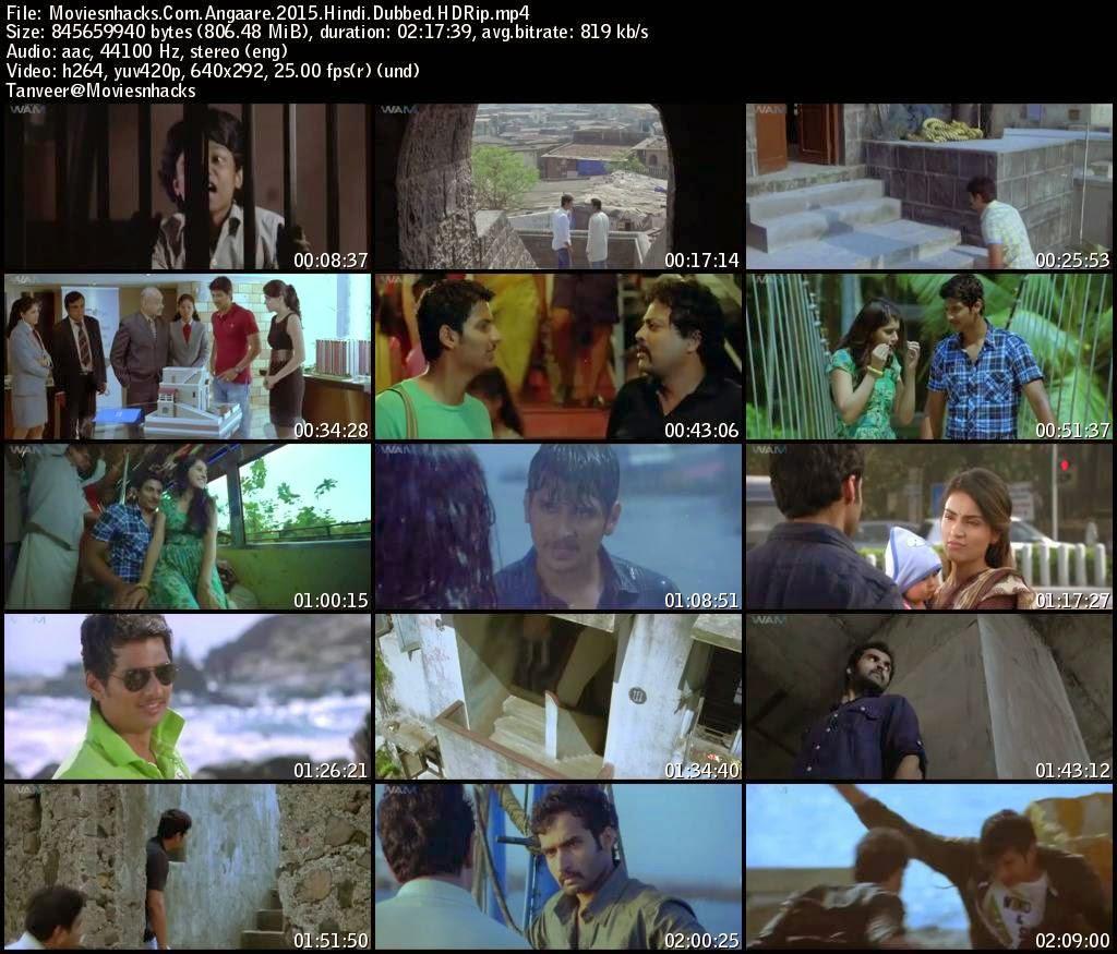 Angaare (2015) Hindi Dubbed HDRip