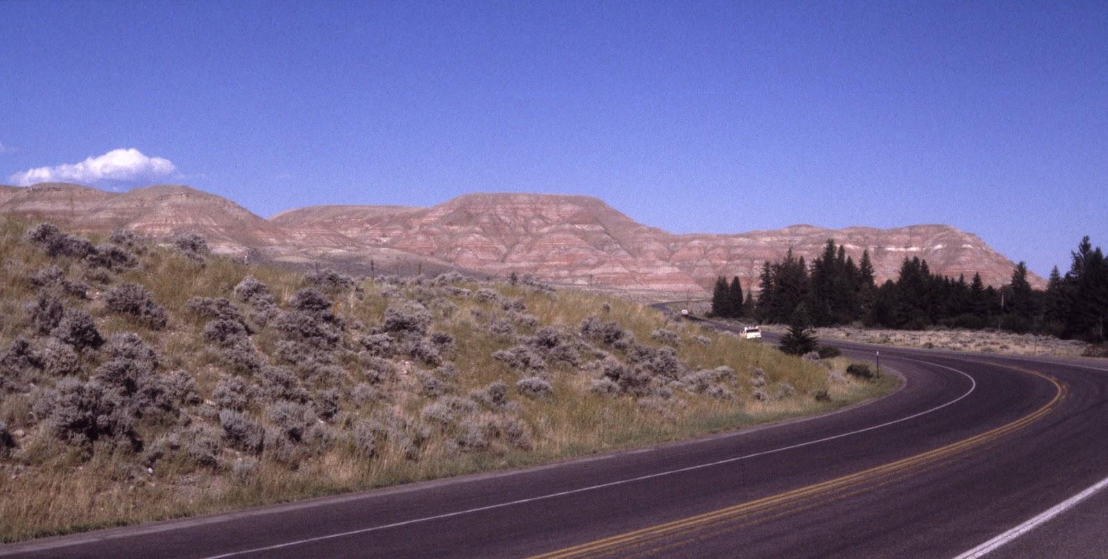 Red-striped cliffs