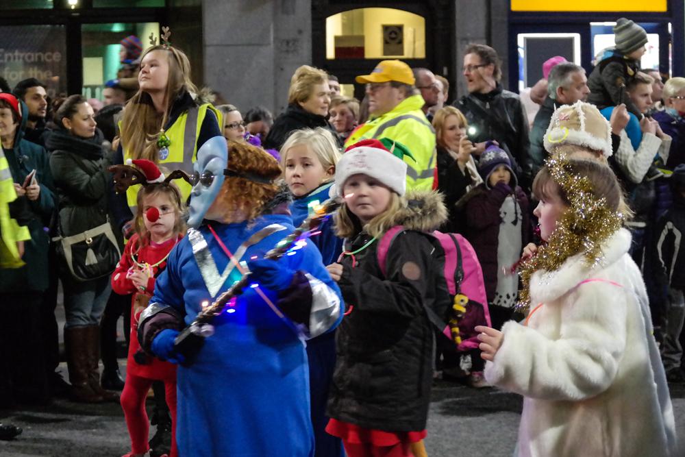 Kids in weird costumes