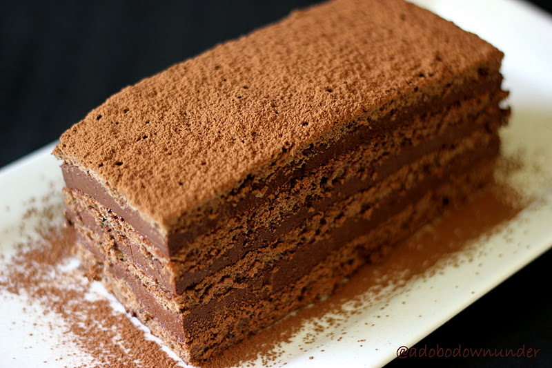 adobo down under chocolate marquise On chocolate marquise cake