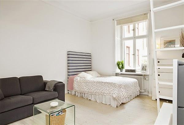 Foto da cama do apartamento