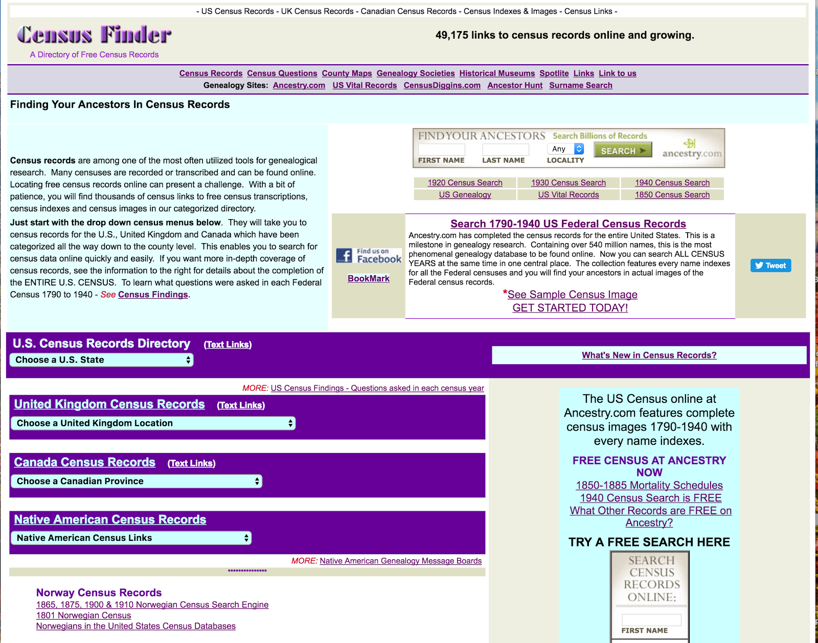 List of 5 free websites for finding public records online search public records image result for census finder aiddatafo Images