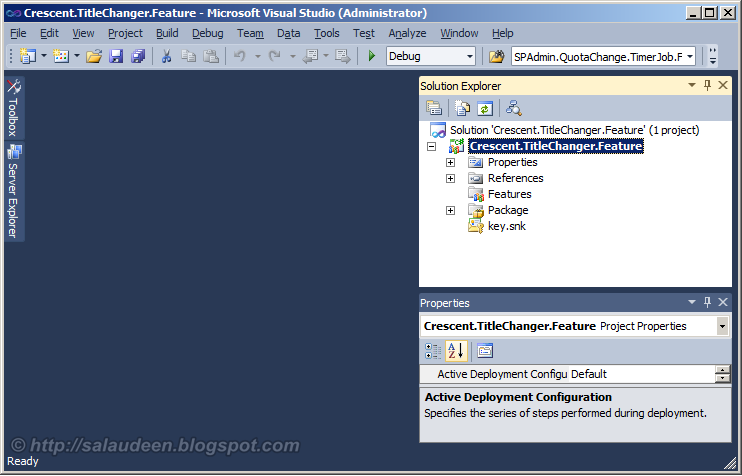 how to create a new feature in sharepoint 2010