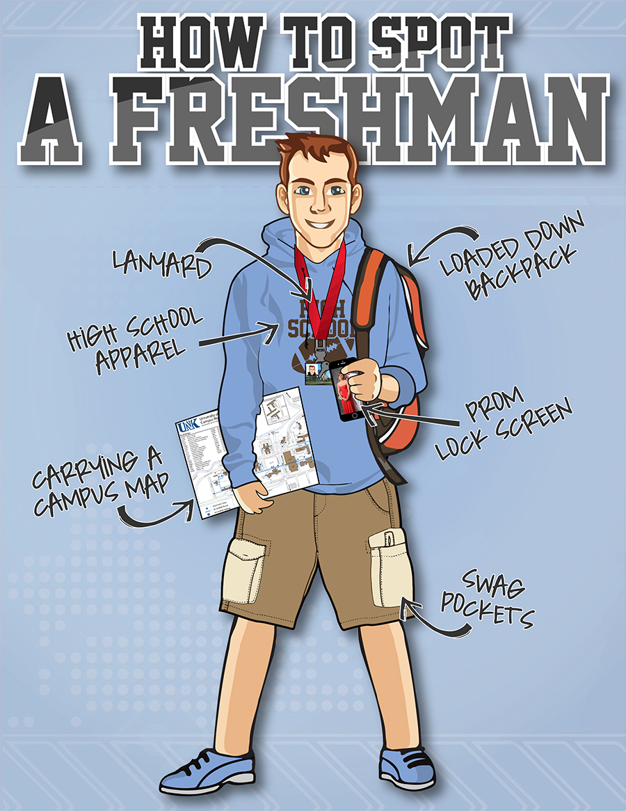 unk admissions your college survival guide top ways to spot a how to spot a freshman