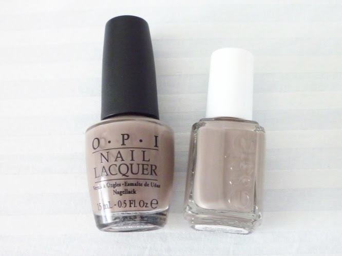 My Favorite Nail Color For Fall: Greige. See How It's Getting Me Back on the Manicure Train. I'm leaning toward the Essie Nail Polish in Mink Muffs, $8, OPI Lacquer in You Don't Know Jacques, $7 and CoverGirl Boundless Color Nail Polish in Perfect Penny, $4.