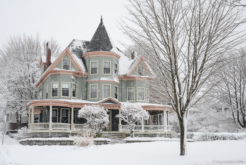 Portland, Maine Winter January 2014 Winter Snow Eastern Promenade House Photo by Corey Templeton