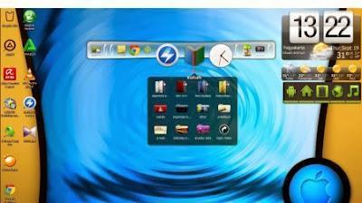 Mempercantik tampilan deskstop windows 7 menggunakan Rocketdock