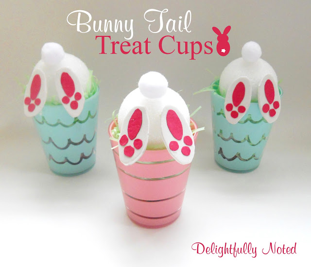 DIY Bunny Tail Treat Cups for Easter
