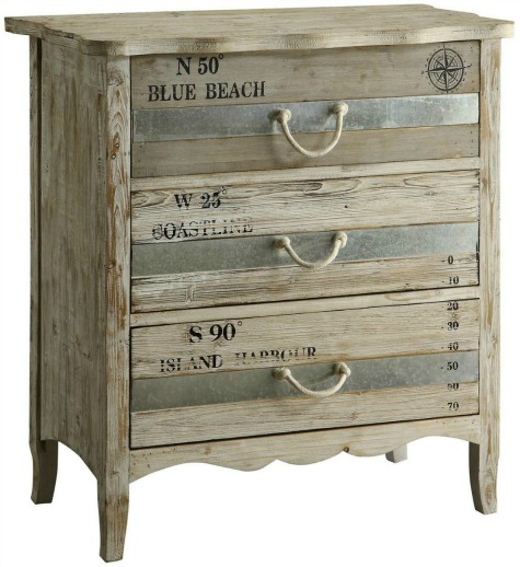 22 Ideas To Makeover A Dresser Coastal Beach amp Nautical