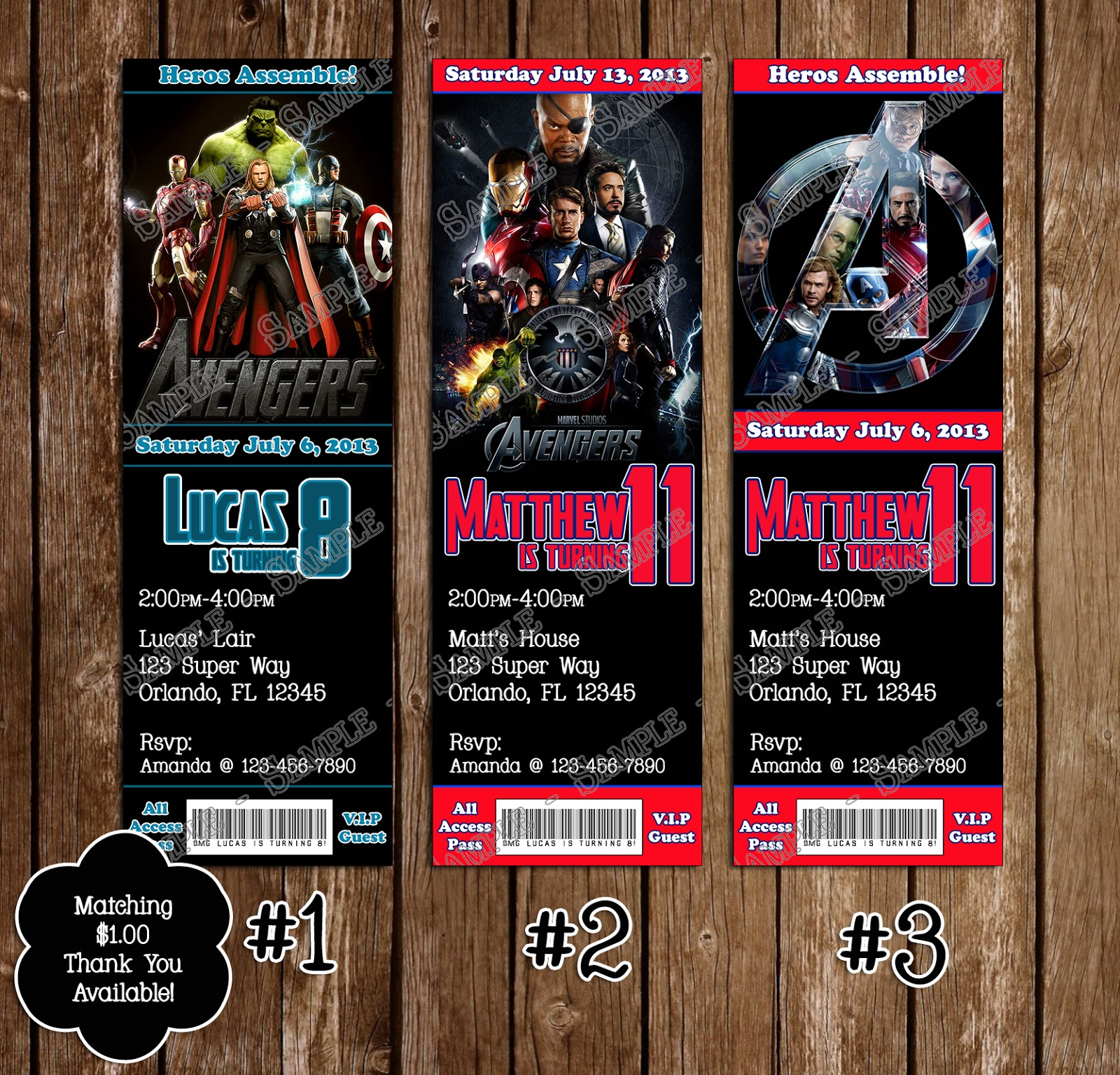 Novel concept designs avengers birthday invitation and thank you card avengers birthday invitation and thank you card july 07 2013 stopboris Images