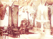 Decorado al estilo colonial, el frescor del patio lo hacía especialmente . fotos antiguas