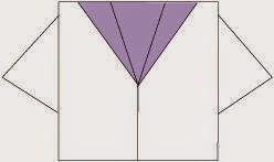 Bước 5: Hoàn thành cách xếp áo thủy thủ bằng giấy theo phong cách origami.