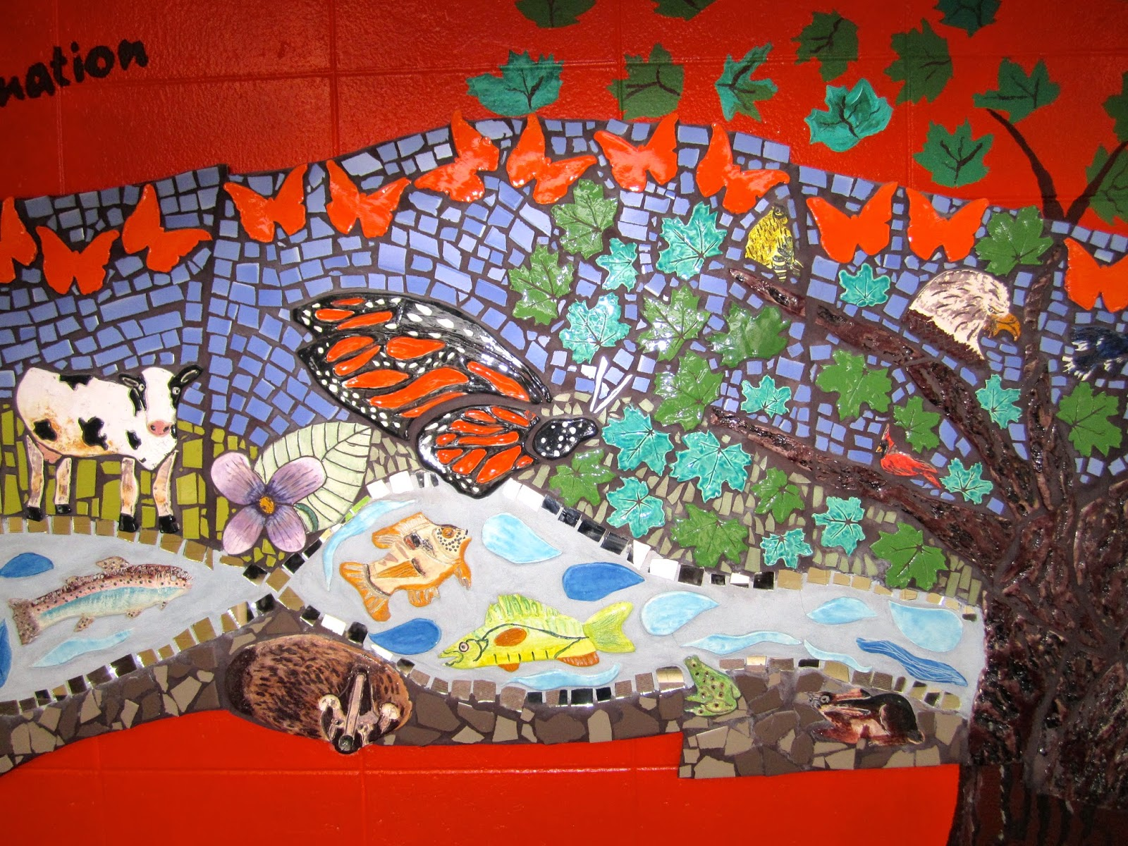 Mosaic murals with students for Mural mosaic
