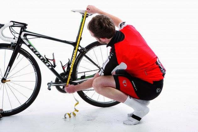 höjd på cykelsadel