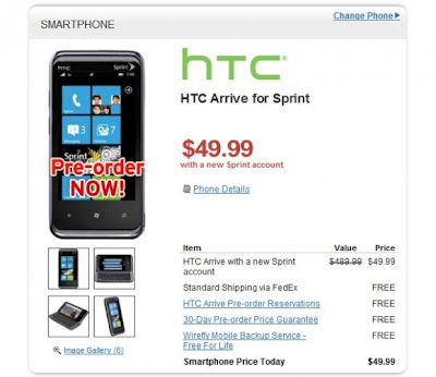 HTC Arrive for Sprint