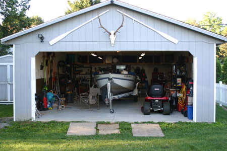 Typical dimensions of a two car garage for Boat garages